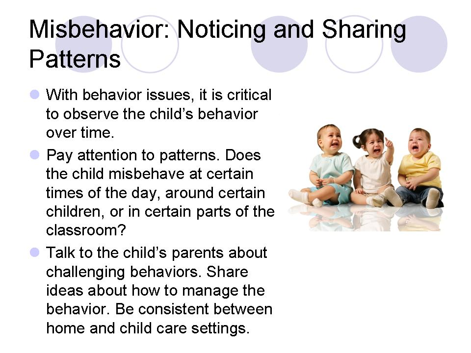 Misbehavior: Noticing and Sharing Patterns