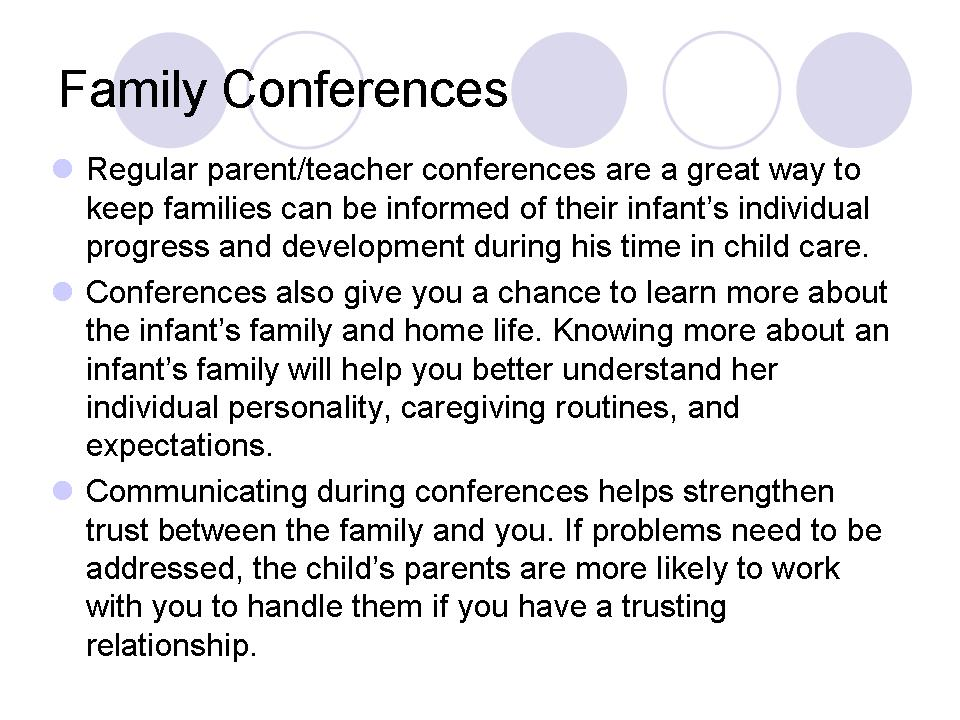 Family Conferences